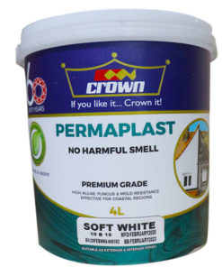 crown permaplast emulsion water based decorative paint, decorative paints in Kenya, Paint prices in Kenya, Crown Permaplast