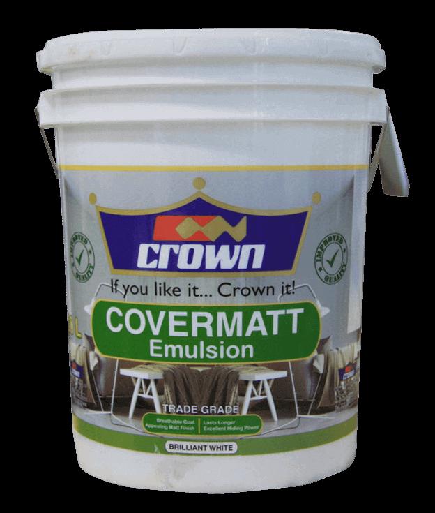Crown Covermatt Emulsion - Crown Paints Kenya PLC