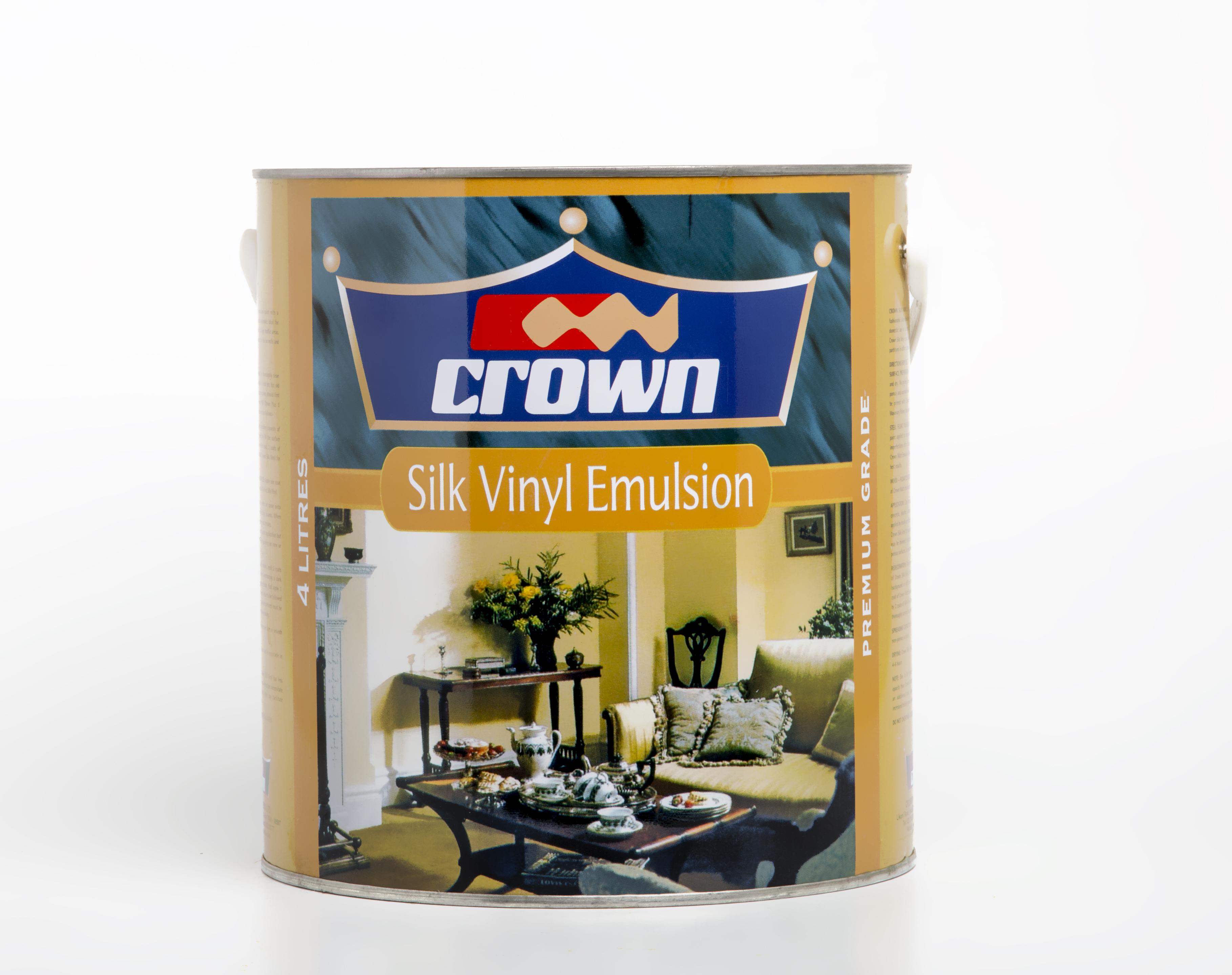 Crown silk vinyl decorative paint crown paints kenya plc - Crown exterior wood paint colours ...