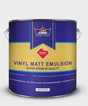 Crown Paint Vinyl Matt with Teflon Surface Protector, Adhesives, Automotive, Industrial, Intermediate, Road Marking, Thinners, Decorative, Wood Finishes, ZERO VOC