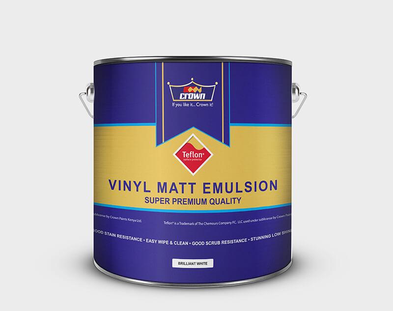 Crown Paint Vinyl Matt with Teflon Surface Protector - Crown Paints