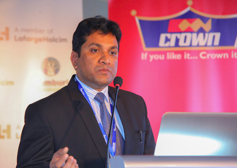 Crown Paints, Head of Sales, Rakesh Ranjan delivers his speech during the KPDA CEO Morning Learning Session.