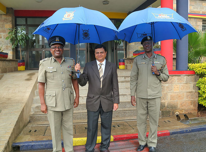 Crown Paint Umbrella donations To Kenya Police