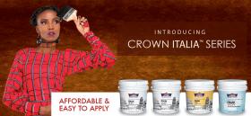 Crown Paints Italia Series, Crown paints Kenya, crown exterior paint, Crown Paints Italia Series, Uno, decorative colors, paints in Nairobi, paints in Kenya